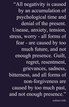 Eckhart Tolle All negativity....