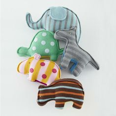 Stuffed Animals: Knit Hippo Menagerie in Baby Toys & Gifts | The Land of Nod