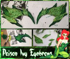 DIY: How to Make Poison Ivy Eyebrows - COSPLAY IS BAEEE! Tap the pin now to grab yourself some BAE Cosplay leggings and shirts! From super hero fitness leggings, super hero fitness shirts, and so much more that wil make you say YASSS! Poison Ivy Halloween Costume, Soirée Halloween, Poison Ivy Cosplay, Diy Halloween Costumes, Halloween Cosplay, Holidays Halloween, Costume Ideas, Diy Posion Ivy Costume, Tutu Costumes