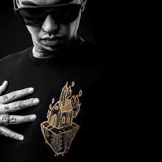 """Light The Way"" Gold Print Long Tee Available at www.crmcclothing.co   WE SHIP WORLDWIDE Model - @beesttattoos Photography by @adrianianmcnab #darkwear #blasphemy #blackwear #satan #lighttheway #altfashion #alternative #instafashion #fashionstatement #fashionista #burningchurch #menwithtattoos #blackmetal #churchburning #styles #style #alternativeguy #alternativeboy #alternativegirl #alternativeteen #love #gold #tattooedmen"