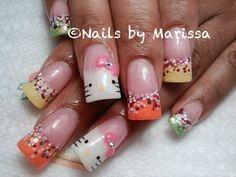 Hello kitty nails Gel Nails, Acrylic Nails, Hello Kitty Nails, Nail Technician, Nail Art Designs, Makeup, Beauty, Gel Nail, Make Up