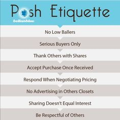 Jen's Posh Tips Jen's Closets Rules  ️NO PP ️NO TRADES ️NO HOLDS  ️NO DRAMA ️NO STEALING PICS   PLEASE DO NOT ASK FOR MEASUREMENTS, ADDITIONAL PICS, LOWER PRICES IF YOU DO NOT INTEND TO BUY.  ‼️SERIOUS BUYERS ONLY‼️  Hi ladies! Here are a few quick tips to make your Poshing experience easy & breezy.   Photo credit for pic 2 goes to @lnp916 & pic 3 @bwenger.   ‼️PLS DO NOT COPY ANY IMAGES‼️ Let's Play Nice Bags