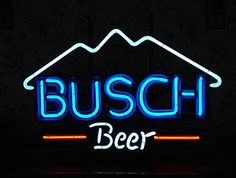 Vintage Neon Beer Signs Busch Deer Neon Beer Sign Busch Neon Beer Signs & Lights  Neon