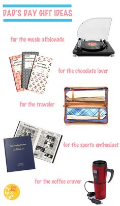 Dad's Day Gift Ideas {for the music aficionado, chocolate lover, traveler, sports enthusiast & coffee craver}