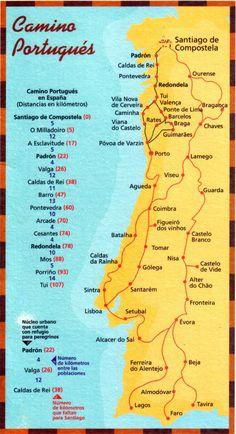 Mapas do Caminho de Santiago - Caminho de Santiago de Compostela - O Portal Peregrino