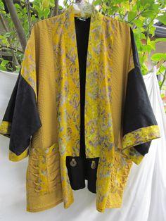 Plus Size Batik Kimono Jacket by aimeelie on Etsy