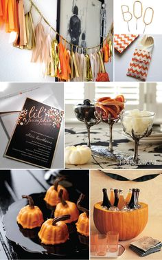 """Halloween Inspired Baby Shower. Love the idea of the """"Lil Pumpkin"""" shower."""