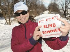 Blind Barrie runner ready for The Big Goal - Barrie's Rhonda Avery is going to run the Bruce Trail this summer. The runner, who is blind, is running in support of Achilles Canada.