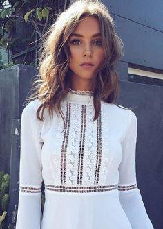 Willow Bell Sleeve Dress | For Love & Lemons                                                                                                                                                                                 More