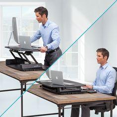 Amazon.com : VARIDESK Pro 36 Height-Adjustable Black Desktop Standing Desk : Computer Monitor Stands : Office Products