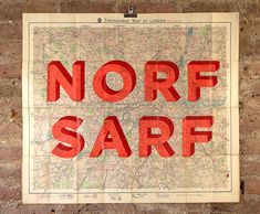 Norf Sarf by Dave Buonaguidi - For sale at Nelly Duff The Duff, Art For Sale, Modern Art, Original Art, Art Pieces, Graphic Design, London, Lettering, The Originals