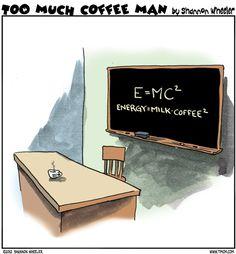 Einstein cartoon by Shannon Wheeler (creator of toomuchcoffeeman)