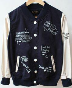 Loose Graffiti Long Sleeves Coat - Coats