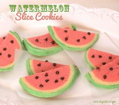Kids in the Kitchen: Watermelon Slice Cookies