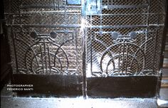 Wrought Iron elevator cage decoration: Budapest Hungary; Art Nouveau Style.