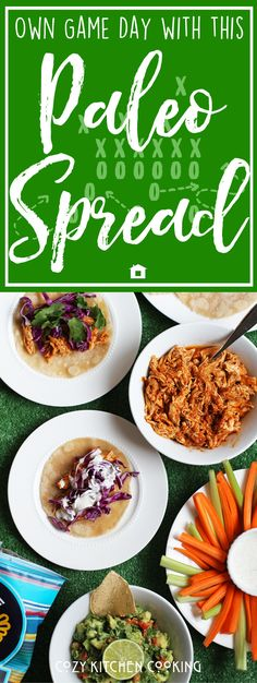 This paleo super bowl party menu has all of those, and it has all real food ingredients, tons of nutrition, antioxidants, and no grains or gluten in sight! Instant Pot Shredded BBQ Chicken, Guac Salsa, Ranch Dip (dairy), & Paleo Party Mix