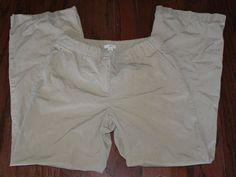 J.Jill lightweight tan cotton casual pants womens size 2P #JJill #CasualPants