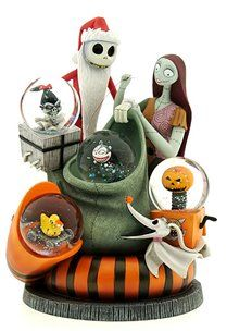 Disney Nightmare Before Christmas Figurine with snowglobes