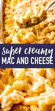 This homemade baked mac and cheese is SO creamy, you won't believe it is made without any processed cheese spread/Velveeta or any other artificial ingredients! It's an easy enough recipe that starts on the stove top and then ends as the classic casserole Mac And Cheese Recipe From Scratch, Mac And Cheese Recipe Baked Velveeta, Oven Mac And Cheese, Homemade Mac And Cheese Recipe Baked, Best Mac N Cheese Recipe, Cheesy Mac And Cheese, Macaroni Cheese, Homemade Sauce, Cheese Recipes