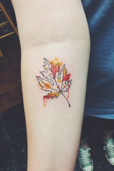 70 Coolest Forearm Tattoo Designs For Boys & Girls - Ohh My My Cool Forearm Tattoos, Forearm Tattoo Design, Dope Tattoos, Body Art Tattoos, Tattoos For Guys, Tattoo Art, Fall Leaves Tattoo, Autumn Tattoo, Sister Tattoos
