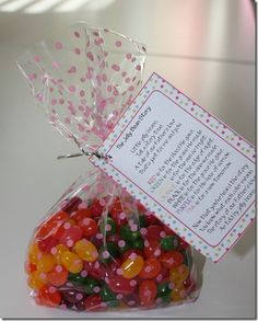The Jelly Bean Story-fun gift that reminds everyone all about Jesus.   ((pass out to family members))