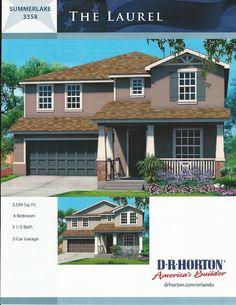 Summerlake Dr Horton Homes Laurel Model in Winter Garden FL....Sal Malagon. Realtor, Orlando, Florida. English/Español. (407)346-5977