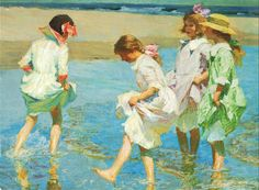 edward henry potthast paintings | File:1910 painting by Edward Henry Potthast.jpg - Wikimedia Commons
