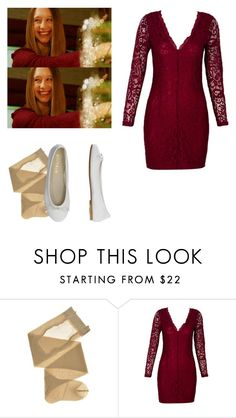 """Violet Harmon - ahs / american horror story"" by shadyannon ❤ liked on Polyvore featuring WithChic and DIENNEG"