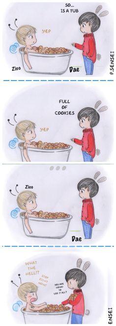 Bap daehyun Zico block b tough cookie kpop