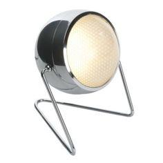£49 Pluto 1 Light Metal and Glass Table Light, 5014838470923