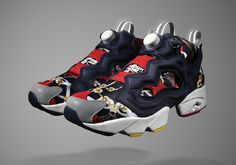 """INVINCIBLE x Reebok Insta Pump Fury """"Luxury Scarf"""" - SneakerNews.com"""