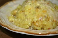 Spicy Rice & Corn Casserole - add some cooked shrimp or chicken to make it a main dish!
