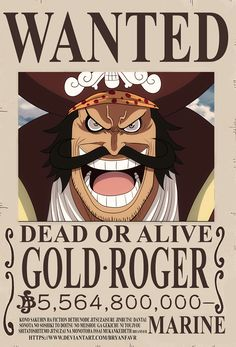 GOL D. ROGER Wanted poster just got released on One Piece the manga chapter 957