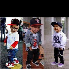 How cute!!! Little boys got swagg