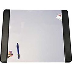 Artistic Products Desk Pads with Panel and Clear Cover, 19in. x 24in., Black