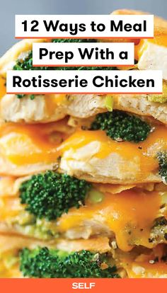 One rotisserie chicken can absolutely feed you healthy meals for a whole week. Let these 12 recipes get you started. All of them are tasty, simple, and versatile enough to work for lunch or dinner. Cooked Chicken Recipes, Chicken Meal Prep, How To Cook Chicken, Cooking Recipes, Chicken Feed, Turkey Recipes, Make Ahead Meals, Easy Meals, Healthy Meals