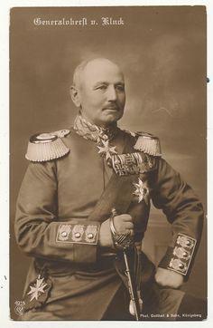 ■ Alexander Heinrich Rudolph von Kluck (Münster, Westfalia; 20 de mayo de 1846 – Berlín, Alemania; 19 de octubre de 1934)