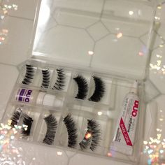 Nail kit becomes eyelash storage! Genius! Find it in the nail section at Walgreens, CVS!