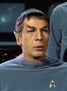 "Leonard Nimoy Spock Star Trek ""The Cage"" 1965 First Officer Nims Star Trek Spock, Star Trek Tv, Star Wars, Star Trek Original Series, Star Trek Series, Aliens, Star Trek Party, Star Trek Online, Star Trek 1966"