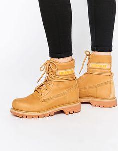 c3b9256a4 Cat Colorado Slouch Honey Lace Up Ankle Boots at asos.com. BotasBotines Con  Cordón Para ...