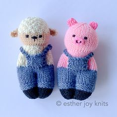 Ravelry: Designs by Esther Braithwaite Knitted Doll Patterns, Animal Knitting Patterns, Knitted Dolls, Crochet Toys, Knit Crochet, Crochet Patterns, Puppet Patterns, Loom Knitting, Baby Knitting