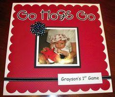 Razorback Scrapbook.. grace's first football game idea