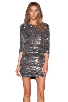 Parker Black Petra Sequin Dress in Silver | REVOLVE