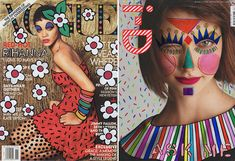 fashion magazine covers so brilliantly electrified by Brazilian interior designer Ana Strumpf? The covers were illustrated as part of an art exhibition in São Paulo earlier this summer