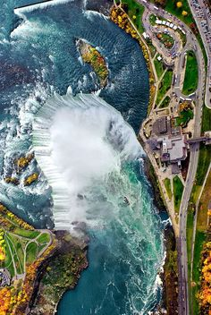 Aerial View of Niagra Falls, Canada Landscape Photos, Landscape Photography, Wonderful Places, Beautiful Places, Places To Travel, Places To Visit, Canada, All Nature, Beautiful Waterfalls