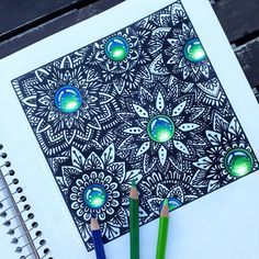 Another drawing from last week :) I am sorry for not posting more often, but I'm on holiday and I barely find time for drawing :) also, I don't know what to draw next. Any suggestions? Mandala Drawing, Mandala Tattoo, Pictures To Paint, Some Pictures, Tatoo Hindu, Colorful Drawings, Art Drawings, Zentangle, House Doodle