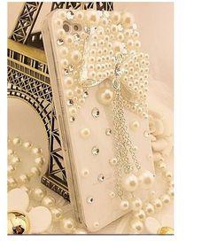 New Pearl Bowknot Style Flatback Scrapbooking / DIY Phone Case Deco Den Kit. $7.99, via Etsy.