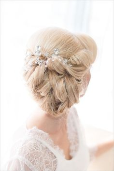 messy low wedding updo with hairpiece / http://www.deerpearlflowers.com/long-wedding-hairstyles-with-beautiful-details/