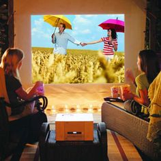 Screen your favorite flicks under the stars. By simply hanging a canvas and flipping on a projector, you can watch blockbusters in your own yard
