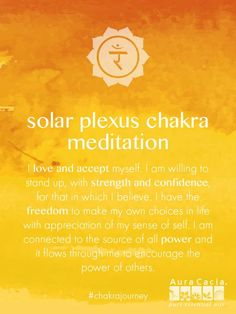 Breath Meets Busy Connect with yourself and realize your personal power with this guided solar plexus chakra meditation.Connect with yourself and realize your personal power with this guided solar plexus chakra meditation. Qi Gong, Chakra Meditation, Mindfulness Meditation, Easy Meditation, Meditation Music, Mind Body Spirit, Mind Body Soul, 3 Chakra, Chakra Mantra